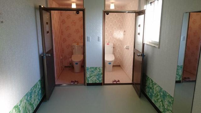 ウオシュレット付き水洗トイレ
